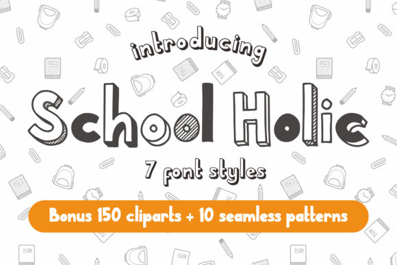 Print on Demand: School Holic Family Display Font By Orenari