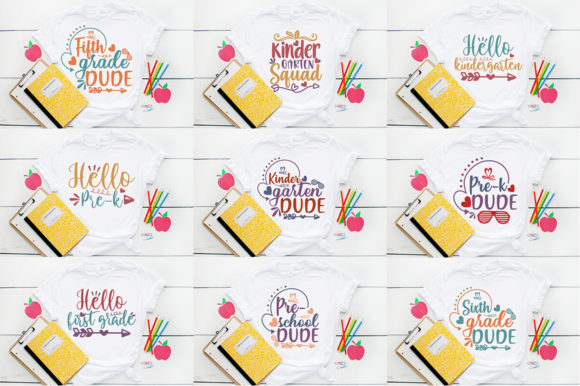 School SVG Mega Bundle Graphic Print Templates By Graphicsqueen - Image 3