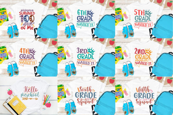 School SVG Mega Bundle Graphic Print Templates By Graphicsqueen - Image 10