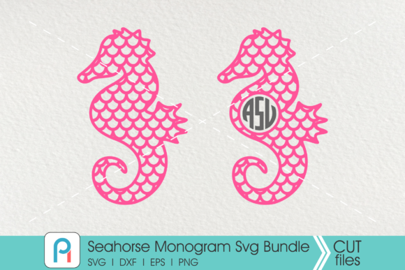 Seahorse Monogram Graphic Crafts By Pinoyartkreatib