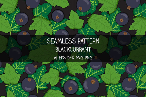 Print on Demand: Seamless Blackcurrant Pattern Graphic Illustrations By Bayu Baluwarta