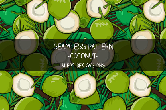 Download Free Seamless Coconut Pattern Graphic By Bayu Baluwarta Creative for Cricut Explore, Silhouette and other cutting machines.