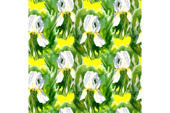 Print on Demand: Seamless Pattern with  Iris. Graphic Patterns By kakva