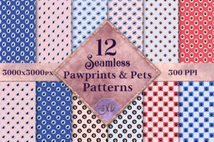 Seamless Pawprints & Pets Patterns Graphic By SapphireXDesigns