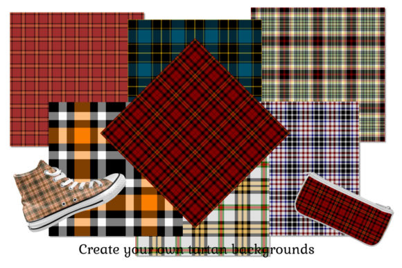 Seamless Tartan Backgrounds Graphic Backgrounds By Snappyscrappy - Image 2