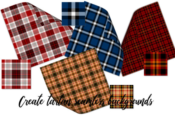 Seamless Tartan Backgrounds Graphic Backgrounds By Snappyscrappy - Image 3