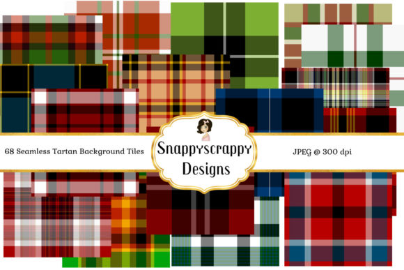 Seamless Tartan Backgrounds Graphic Backgrounds By Snappyscrappy