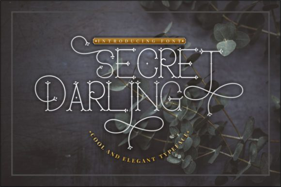 Print on Demand: Secret Darling Display Font By putracetol - Image 1