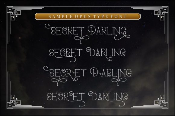 Print on Demand: Secret Darling Display Font By putracetol - Image 4