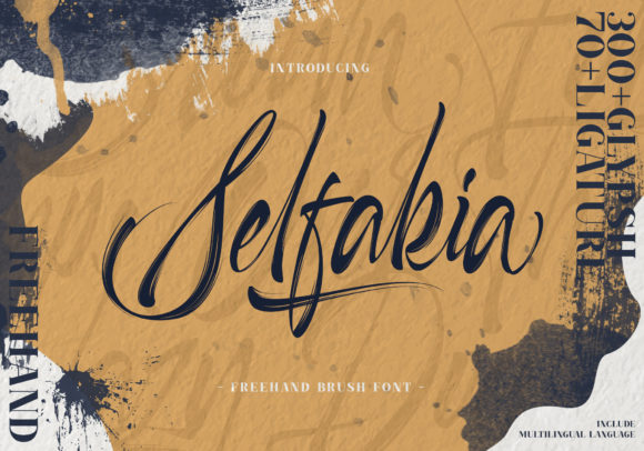 Print on Demand: Selfakia Script & Handwritten Font By Muntab_Art