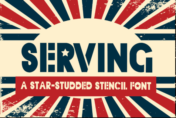 Print on Demand: Serving Display Font By Illustration Ink