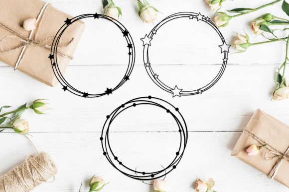 Download Free Set Of 3 Circle Scribble Frames Svg Graphic By Helartshop for Cricut Explore, Silhouette and other cutting machines.