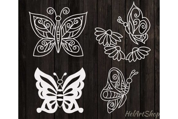 Download Free Set Of Butterflies Svg Graphic By Helartshop Creative Fabrica for Cricut Explore, Silhouette and other cutting machines.