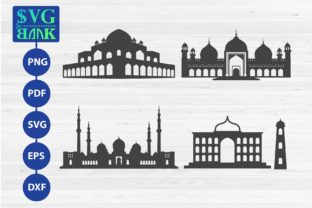 Set of Mosque Graphic By svgBank