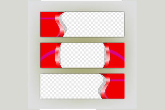 Set  of Banner Vector , Simple Template Graphic By rohmar