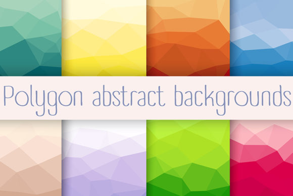 Print on Demand: Set Polygon Abstract Background Graphic Crafts By AlexZel