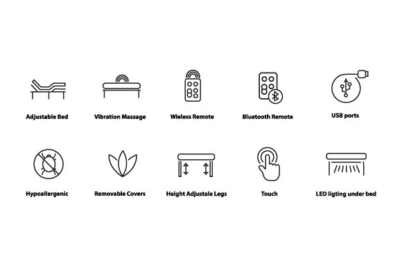 Download Free Set The Bed Icon For A Simple Hotel Graphic By Deniprianggono78 SVG Cut Files