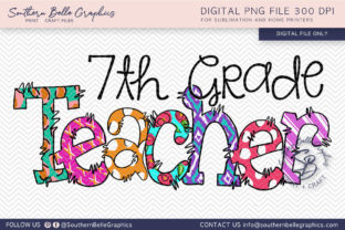 Seventh Grade Teacher Graphic By Southern Belle Graphics