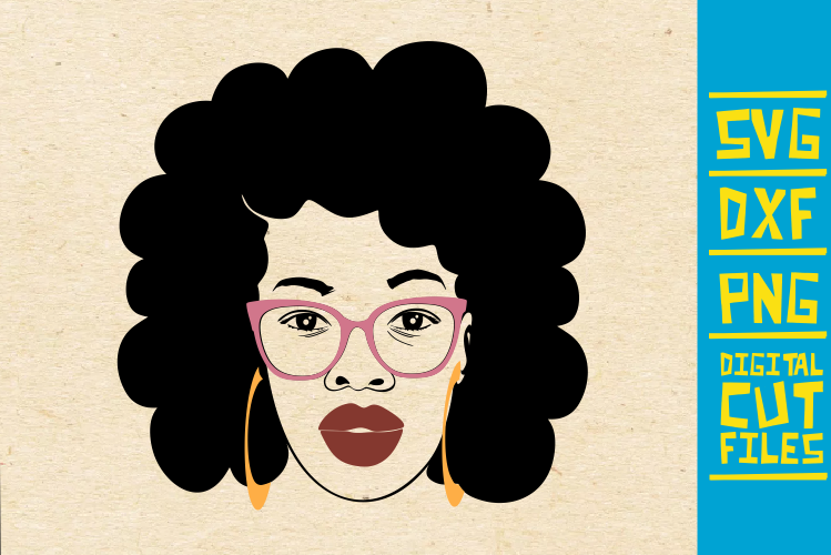 Sexy Afro Lady Svg Red Lips Dxf Africa Graphic By