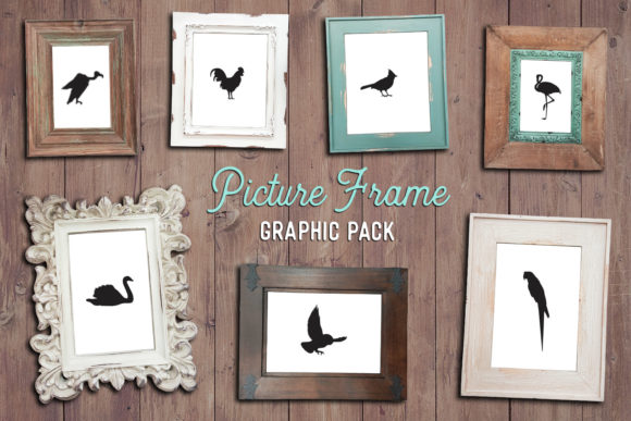 Print on Demand: Shabby Frame Clipart Pack Graphic Objects By The Gradient Fox