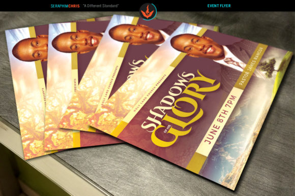 Download Free Shadows Of His Glory Church Flyer Graphic By Seraphimchris for Cricut Explore, Silhouette and other cutting machines.