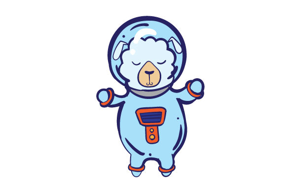 Download Free Sheep In Spacesuit Svg Cut File By Creative Fabrica Crafts for Cricut Explore, Silhouette and other cutting machines.
