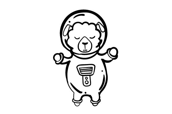 Sheep in Spacesuit Craft Design By Creative Fabrica Crafts Image 2