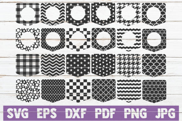 Shirt Pockets Bundle | Cut Files Graphic Graphic Templates By MintyMarshmallows