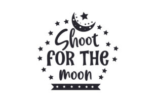 Shoot for the Moon Craft Design By Creative Fabrica Crafts