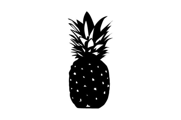 Download Free Siluet Pineapple Graphic By Surya Darmawan Creative Fabrica for Cricut Explore, Silhouette and other cutting machines.