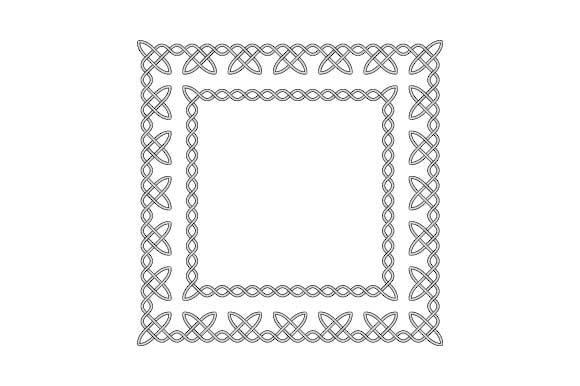 Download Free Simple Knotted Celtic Frame Graphic By Graphicsfarm Creative for Cricut Explore, Silhouette and other cutting machines.
