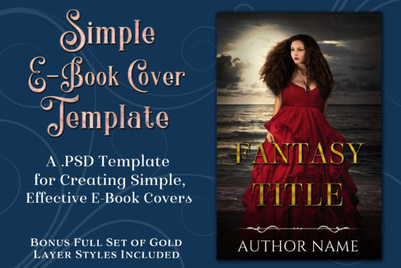 Simple PSD E-Book Cover Template Graphic By SapphireXDesigns