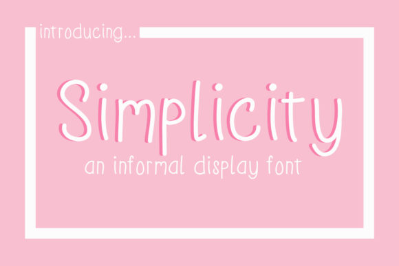 Print on Demand: Simplicity Display Font By thejaemarie