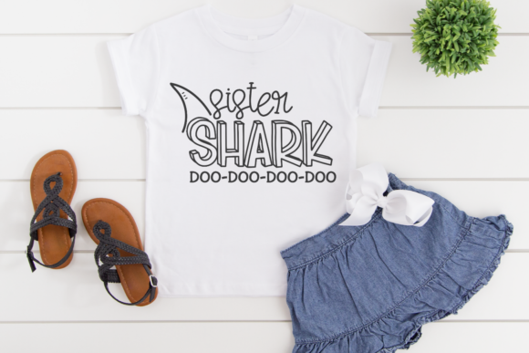 Download Free Sister Shark Grafico Por Morgan Day Designs Creative Fabrica for Cricut Explore, Silhouette and other cutting machines.