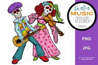 Skeleton Dance Band PNG Graphic Graphic By SLS Lines