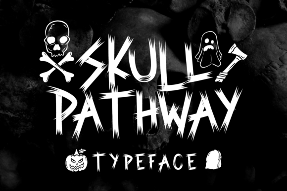 Print on Demand: Skull Pathway Script & Handwritten Font By Rifki (7ntypes)