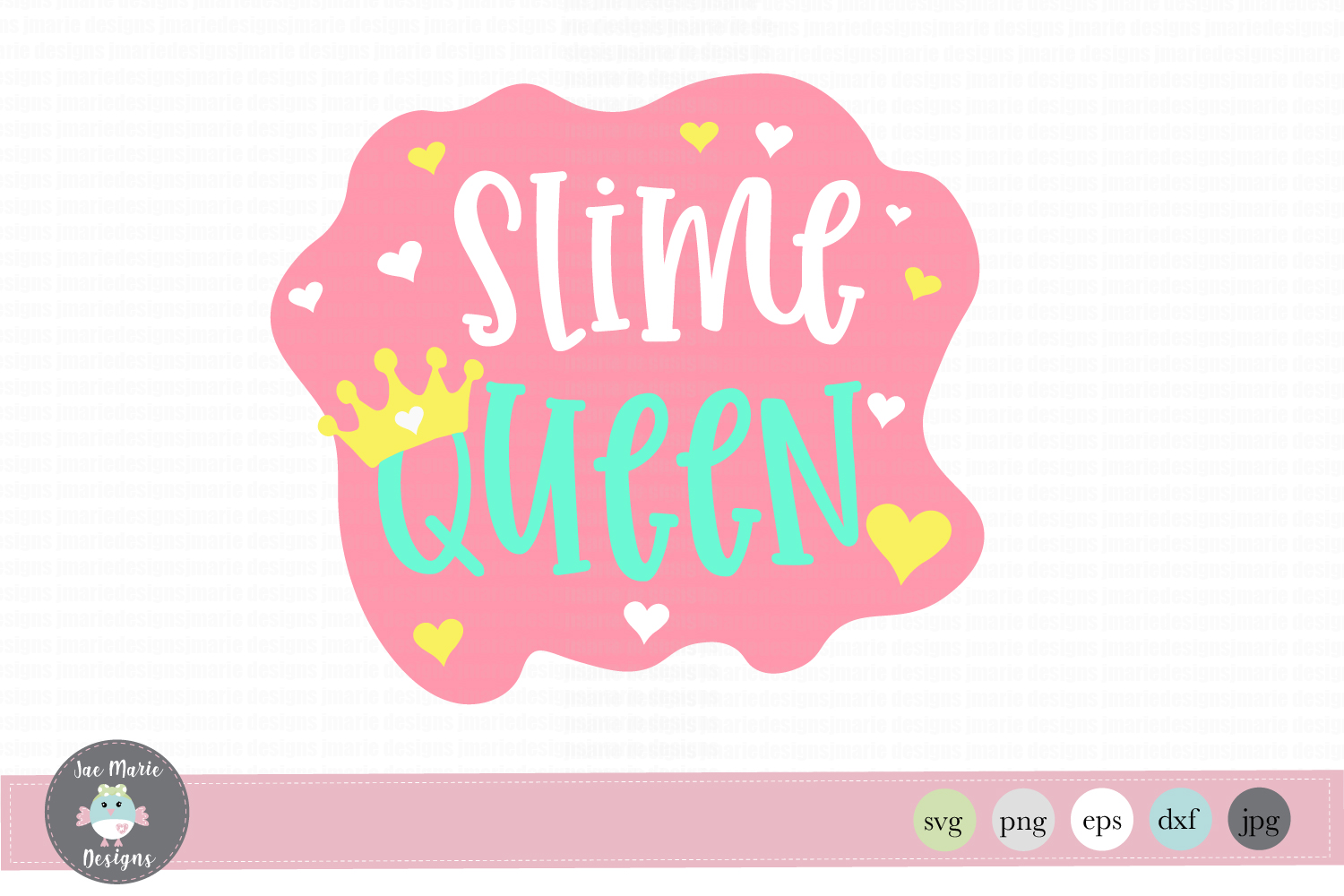 Download Free Slime Queen Birthday Graphic By Thejaemarie Creative Fabrica for Cricut Explore, Silhouette and other cutting machines.
