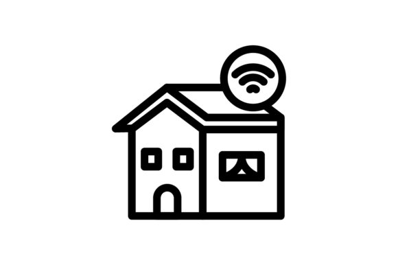 Download Free Smart Home Icon Grafico Por Ahlangraphic Creative Fabrica for Cricut Explore, Silhouette and other cutting machines.