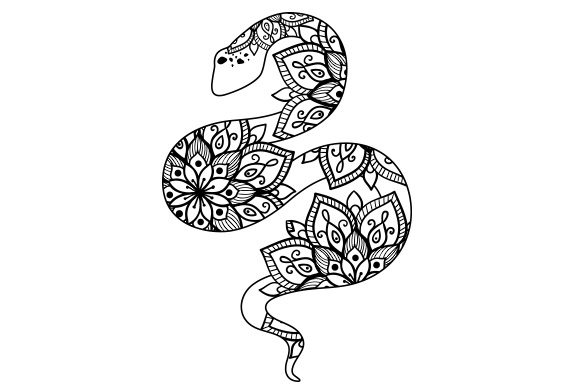 Snake Mandala Line Art Style Animals Craft Cut File By Creative Fabrica Crafts - Image 1