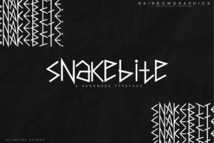 Print on Demand: Snakebite Decorative Font By RainbowGraphicx