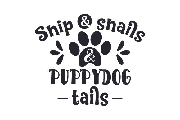 Snip & Snails & Puppydog Tails Animals Craft Cut File By Creative Fabrica Crafts - Image 1