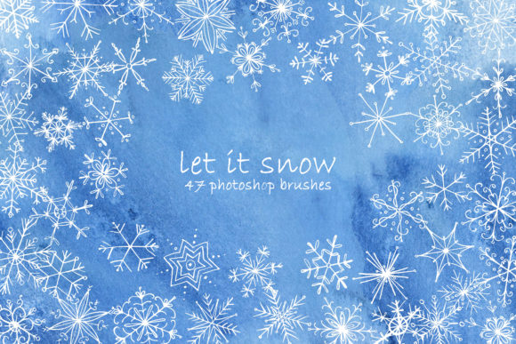 Download Free Snowflakes Photoshop Brushes Graphic By Natalia Arkusha for Cricut Explore, Silhouette and other cutting machines.