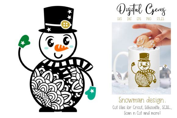 Snowman Design Graphic By Digital Gems
