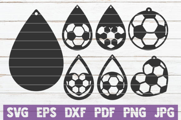 Download Free Soccer Earrings Cut Files Graphic By Mintymarshmallows for Cricut Explore, Silhouette and other cutting machines.