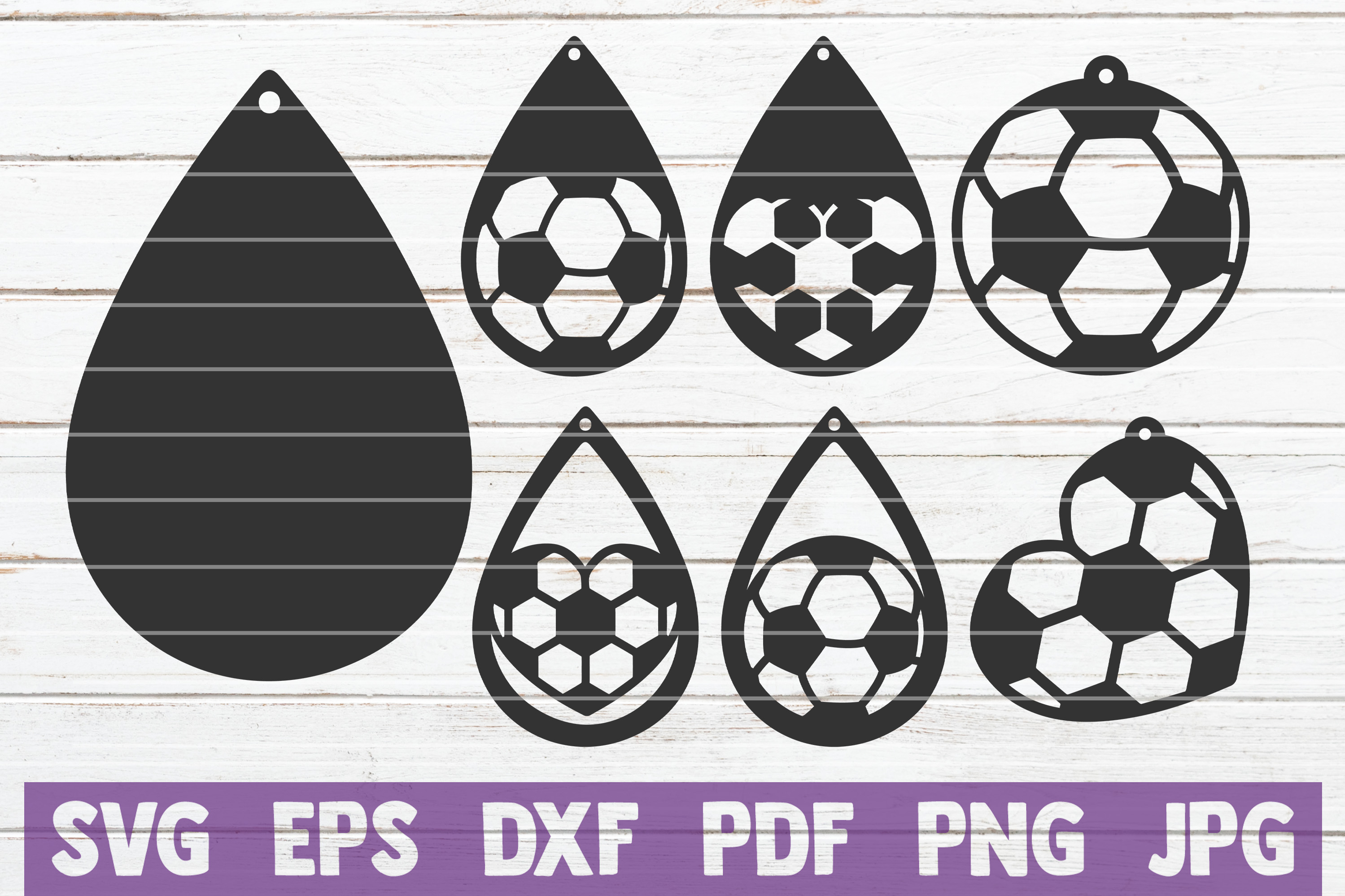 Download Free Soccer Earrings Cut Files Graphic By Mintymarshmallows SVG Cut Files