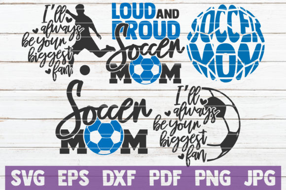 Download Free Soccer Mom Bundle Cut Files Graphic By Mintymarshmallows for Cricut Explore, Silhouette and other cutting machines.