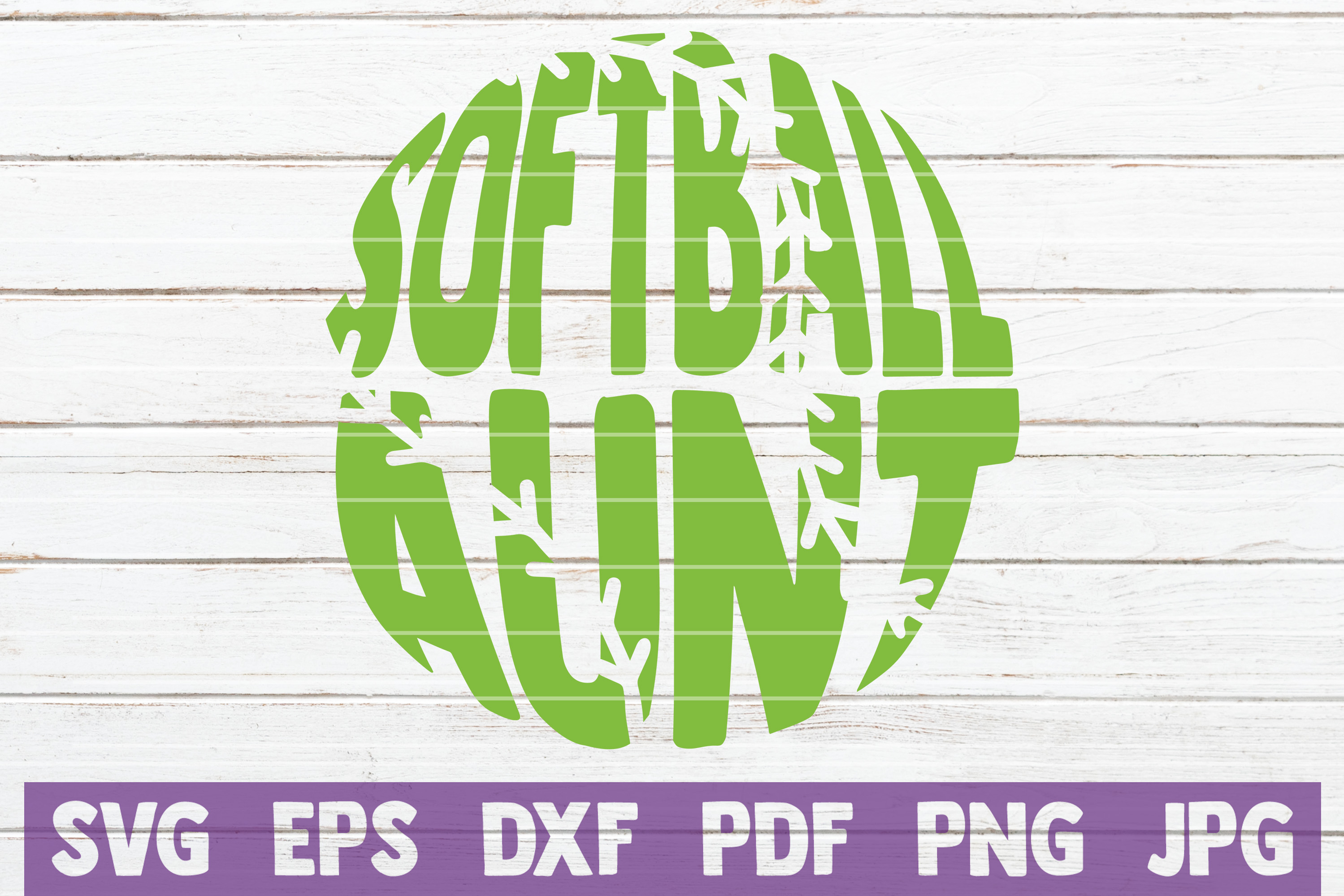 Download Free Softball Aunt Cut File Graphic By Mintymarshmallows Creative for Cricut Explore, Silhouette and other cutting machines.