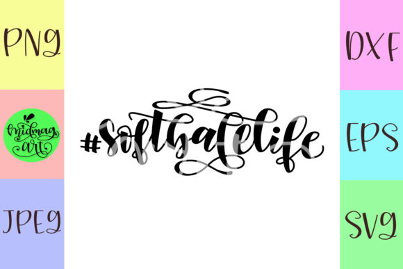 Download Free Softball Life Softball Graphic By Midmagart Creative Fabrica for Cricut Explore, Silhouette and other cutting machines.