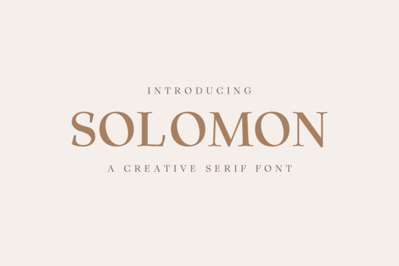 Print on Demand: Solomon Family Serif Font By Creative Tacos - Image 1