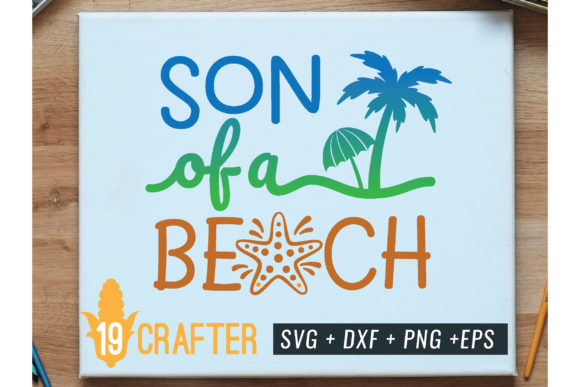 Print on Demand: Son of a Beach Summer Holiday Svg Graphic Crafts By great19
